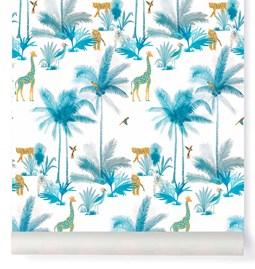 Wallpaper Tamtam - Turquoise