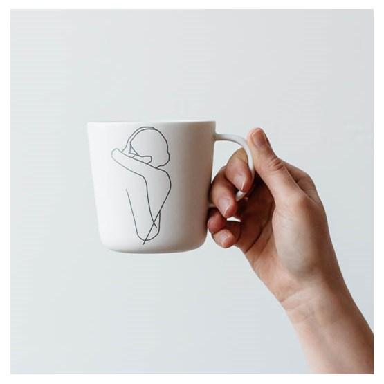 """Mug """"ENLACE"""" - couple enlacé - Design : Sophie Masson"""