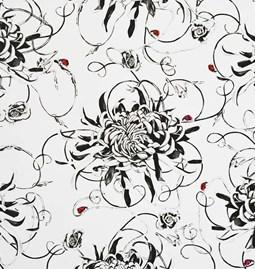 Wallpaper Entangled Chrysanthemums
