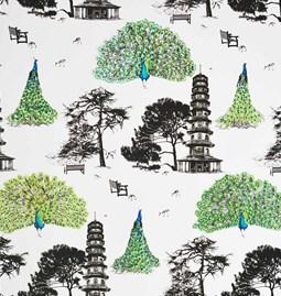 Wallpaper Kew Peacocks - Green