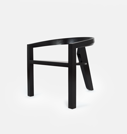 ICON lounge chair | ash lacquered black