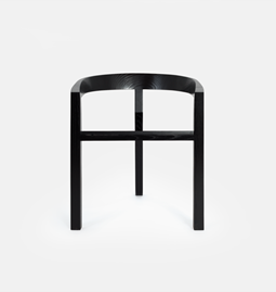 ICON dining chair | ash lacquered black