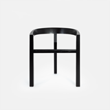 ICON dining chair | ash lacquered black 3