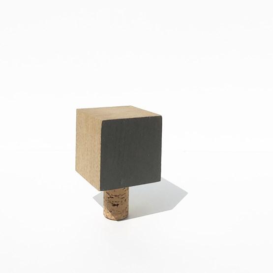 MON PETIT BOUCHON pour bouteille de vin - bois et GRIS - Design : the designer trotter