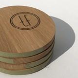 ENTRE AMIS coaster - wood and GREEN GREY 6