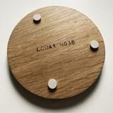 ENTRE AMIS coaster - wood and GREEN GREY 5