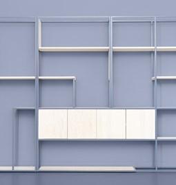 CELESTE 4 shelf - pigeon blue