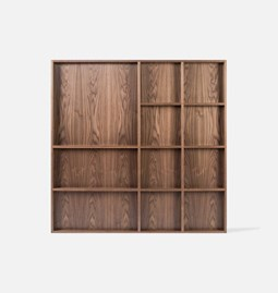 ATLAS wall exhibitor | walnut