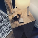 Bar stool LES COULEURS DE L'AUTOMNE - wood natural oak and GREY 5