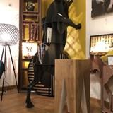 Bar stool LES COULEURS DE L'AUTOMNE - wood natural oak and GREY 6