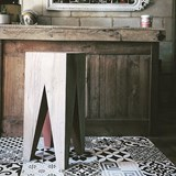 Bar stool LES COULEURS DE L'AUTOMNE - wood natural oak and GREY 3