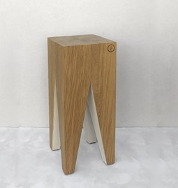 Bar stool LES COULEURS DE L'AUTOMNE - wood natural oak and WHITE
