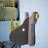 """RIXIE"" Rhinoceros Coat Hanger  2"