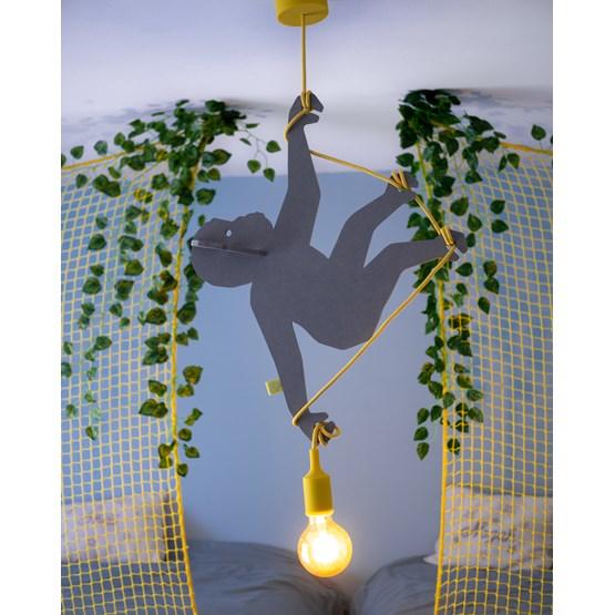 """Suspension Lumineuse Singe  """"ABOU"""" (Gris) - Design : Studio Ruthy Design"""