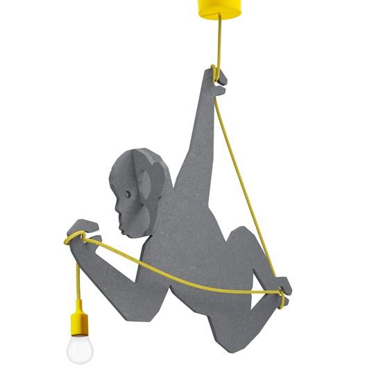 """Suspension Lumineuse Singe """"RAFIKI"""" (Gris) - Design : Studio Ruthy Design"""