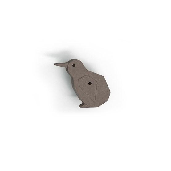 Patère Oiseau KIWI (Gris) - Design : Studio Ruthy Design