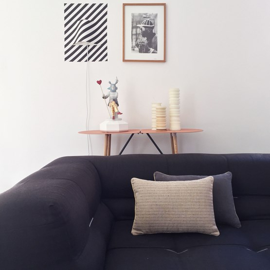 MIX&MATCH ethnic line linen cushion - Designerbox X CELC - Design : Serge Bensimon
