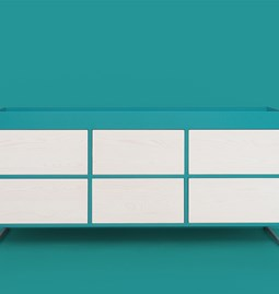 RAY Sideboard - turquoise blue
