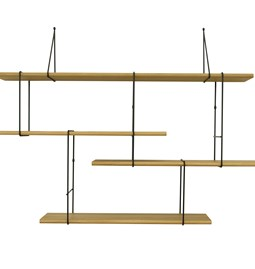 LINK wall shelf set of 1 – oak / black