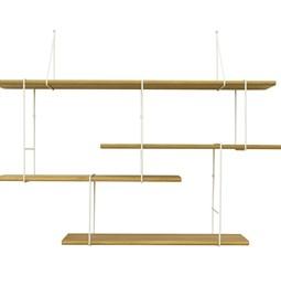 LINK wall shelf set of 1 – oak / white