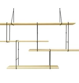 LINK wall shelf set of 1 – ash / black