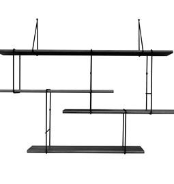 LINK wall shelf set of 1 – black / black