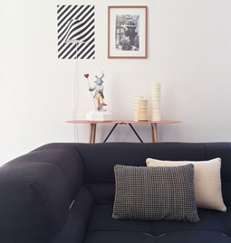 Checkerboard Black linen cushion MIX&MATCH - Designerbox X CELC