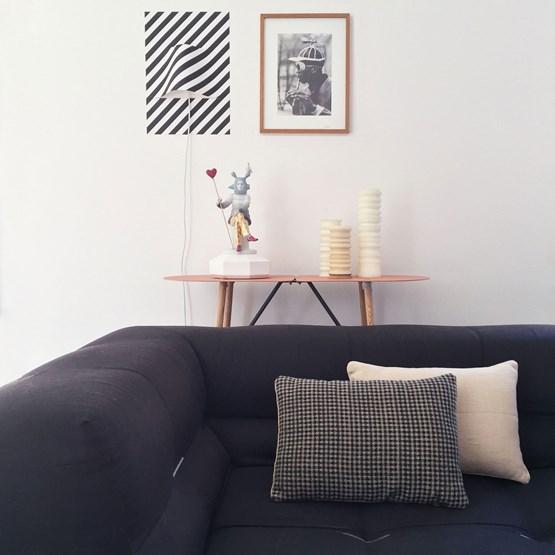 Checkerboard Black linen cushion MIX&MATCH - Designerbox X CELC - Design : Serge Bensimon