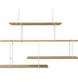 LINK wall shelf set of 2 – oak / white