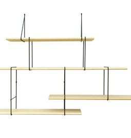 LINK wall shelf set of 2 – ash / black