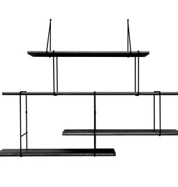 LINK wall shelf set of 2 – black / black