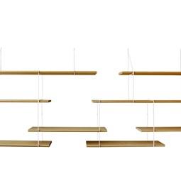 LINK duo wall shelf – oak / white