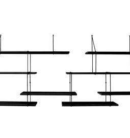 LINK duo wall shelf – black / black