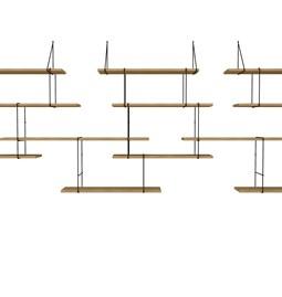 LINK trio wall shelf – oak / black