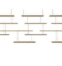 LINK trio wall shelf – oak / white