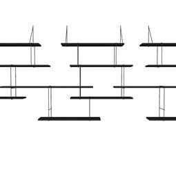LINK trio wall shelf – black / black