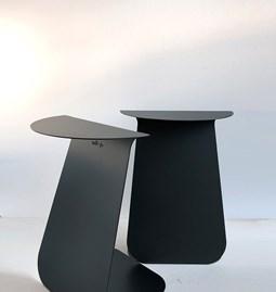 Table YOUMY ronde symétrique noir anodique