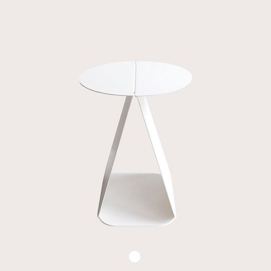 Table YOUMY ronde symétrique blanc mat - Design : mademoiselle jo