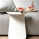 Table YOUMY ronde symétrique blanc mat 2