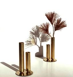 Stem vase SOLIFLORE - brass