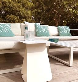 Table YOUMY rectangulaire asymétrique blanc mat