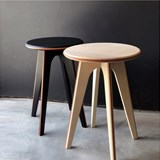 Nordic stool ASSY - black and leather 3