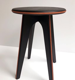 Nordic stool ASSY - black and leather