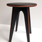 Nordic stool ASSY - black and leather 2
