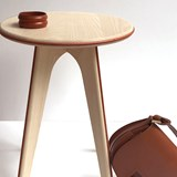 Nordic stool ASSY - white and leather  2