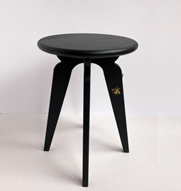 Nordic stool ASSY - black and insects