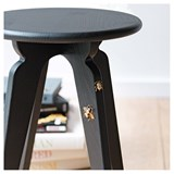 Nordic stool ASSY - black and insects 5