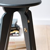 Nordic stool ASSY - black and insects 2