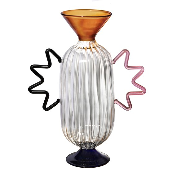 Vase en verre soufflé main Arabesque #02 - Design : Serena Confalonieri