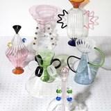 Vase en verre soufflé main Arabesque #02 4